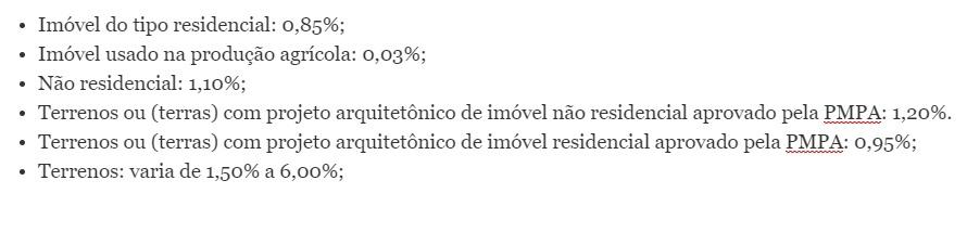 Prefeitura de Porto Alegre IPTU