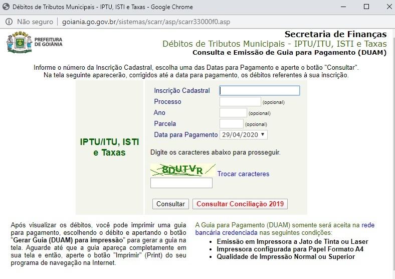 www prefeitura de goiania iptu
