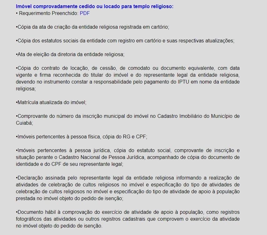 IPTU Cuiabá 2020