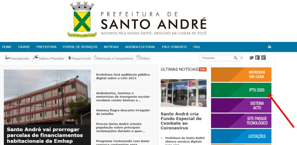 IPTU Santo Andre