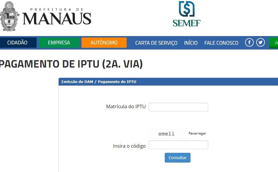 Prefeitura de Manaus IPTU